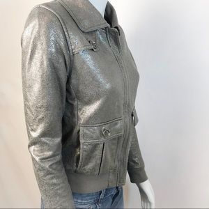 ARMANI EXCHANGE Metallic Silver Jacket